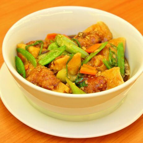 Stuffed Bean Curd with Pork Filling