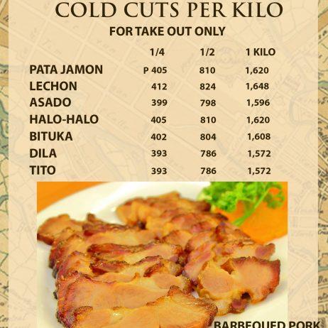Cold Cuts per Kilo